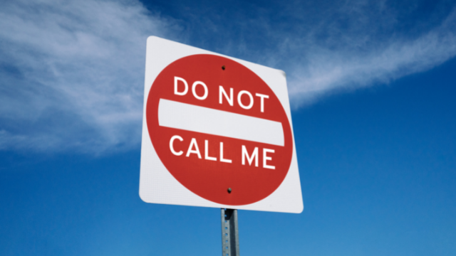 do not call me sign